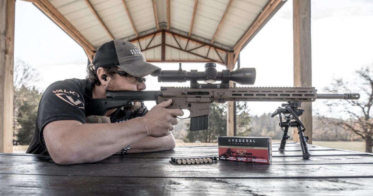 James Gilliland at the range with a .224 Valkyrie