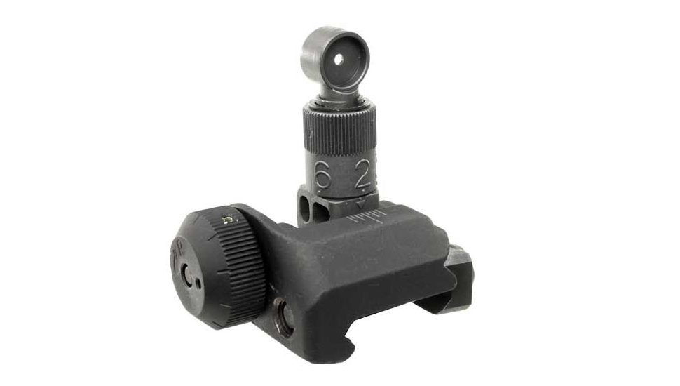 Knights Armament Folding Rear Sight, 200-600 Meter Adjustable Best Back Up Iron Sights