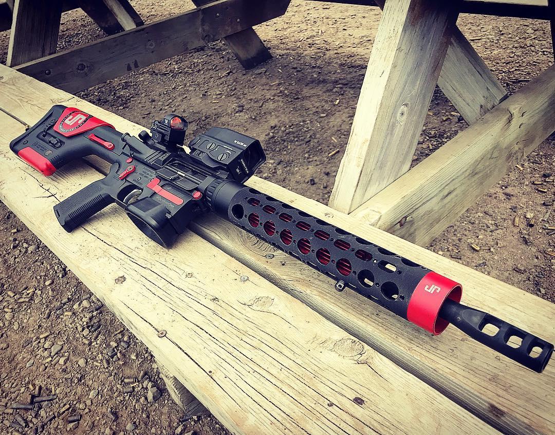9mm pcc.  I run Vortex Razor 6 MOA dots.  It's a nice reflex dot.  I run them on pistols and shotguns…really nice stuff.