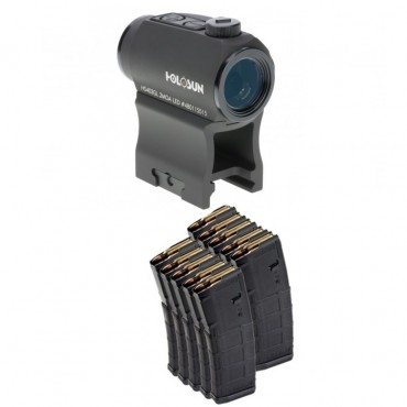 Holosun Micro Sight and 10 Magpul 30 Round Mags
