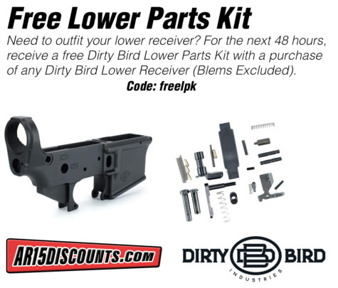 Free Lower Parts Kit with Dirty Bird Lower Receiver Purchase