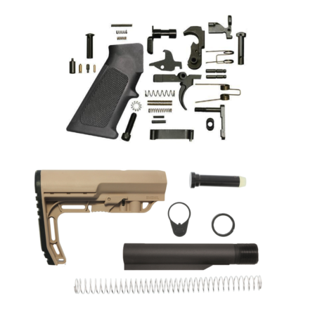 Minimalist AR 15 Lower Build Kit – FDE